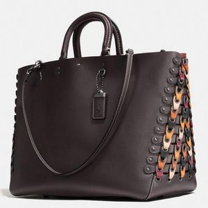 Coach Rogue Link Melon Brown Tote Bag 1941 Retail